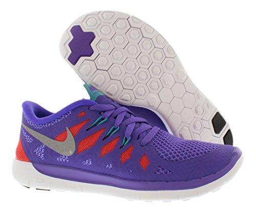 Nike Free 5.0 Mädchen Laufschuhe (purple venom/metallic silver/orange/green)