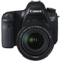 "Canon EOS 6D - Cámara réflex digital de 20.2 Mp (pantalla 3.2"", estabilizador óptico, vídeo Full HD, GPS), color negro - kit con objetivo EF 24-105 3.5-5.6 IS STM"