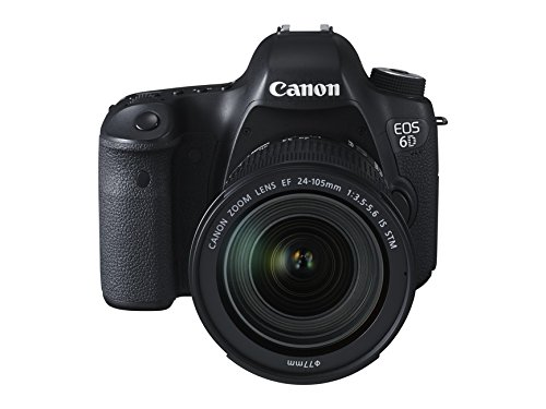 Canon EOS 6D - Cámara réflex digital de 20.2 Mp (pantalla 3.2', estabilizador óptico, vídeo Full HD, GPS), color negro - kit con objetivo EF 24-105 3.5-5.6 IS STM