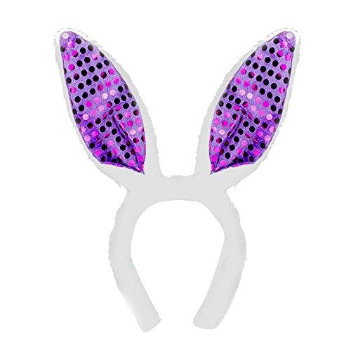 rreif Kanpola Stirnbänder Haarband Kaninchenohr Ostern Deko Accessories für Erwachsene Kinder (Z-Violett) ()