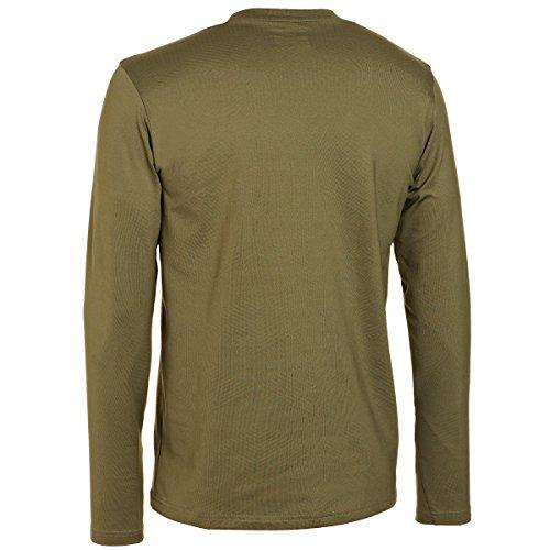 Under Armour ColdGear Infrared - Maglietta tecnica aderente, girocollo, da uomo Marine Od Green/Marine Od Green