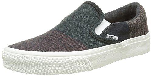 Vans Authentic, Sneakers Basses Mixte Adulte Multicolore (Wool Stripes multi/blanc de blanc)