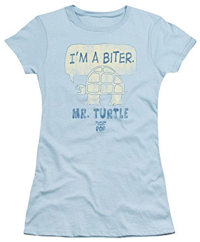 Tootsie Roll Chocolate Candy Tootsie Pop Turtle I'm A Biter JRS Sheer T-Shirt - Blau - Klein (Rolls Candy Tootsie)