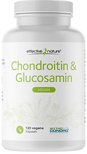 effective nature Chondroitin & Glucosamin - 100{2411b5852e89287e47e759f7a5242d49a2d1b37a541b6593e77946d373de22a7} Vegan - 120 Kapseln