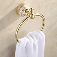 Comparador de precios Bathone Espacio libre de aluminio punción de champán toalla toalla de oro, anillo, anillo colgante toalla anillo antiguo toalla colgando de toallas Europea - precios baratos