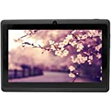 QUAD CORE Yuntab 7 pouces 8 Go HD 1024 X 600 Android 4.4.2 KITKAT Tablet PC Tablette Tactile WiFi Support 3D Jeux, Google Play Store, Youtube, Netflix, Jeux 7 pouces Noir