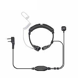 Walkie Talkie Headset mit Mikrofon Schallschlauch 2pin 2,5/3.5mm für Funkgerät Radio Kenwood PUXING Baofeng UV-5RA Retevis Wouxun
