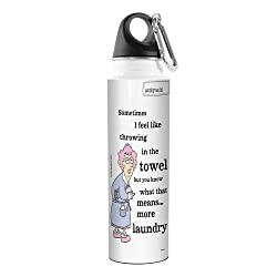Tree-Free Greetings Aunty Acid Artful Traveler Stainless Steel Water Bottle, 18-Ounce.