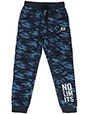 Alan Jones Clothing Boys Military Camouflage Cotton Joggers Track Pant