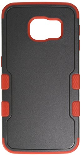 MyBat Cell Phone Case for Samsung G925 (Galaxy S6 Edge) - Retail Packaging - Black/Red