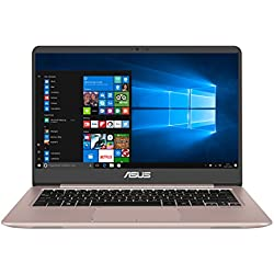 "ASUS UX410UA-GV112T - Ordenador Portátil Ultrafino de 14"" Full HD IPS (Intel Core i5-7200U , 4 GB RAM, 128 GB SSD, Intel HD Graphics 620, Windows 10 Home) Oro rosa - Teclado QWERTY Español"