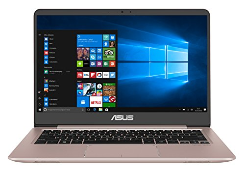 "ASUS UX410UA-GV112T - Portátil ultrafino de 14"" Full-HD IPS (Intel Core i5-7200U , 4 GB RAM, SSD de 128 GB, Intel HD Graphics 620, Windows 10 Original) Oro rosa - Teclado QWERTY Español"