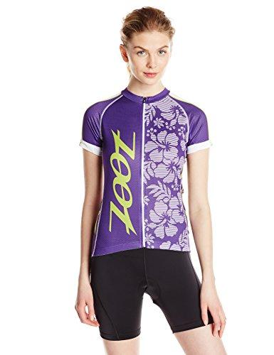 Zoot Sports Damen Cycle Team Jersey, Damen, Purple Haze/Spring Green, Small