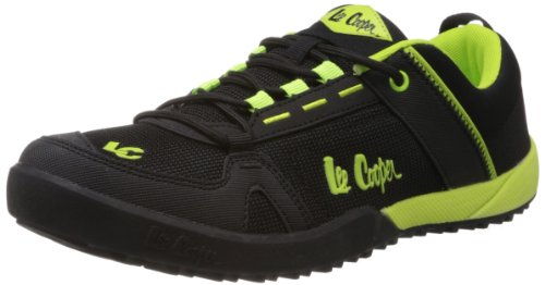 Lee Cooper Men's Black and Lime Mesh Running Shoes  - 6 UK  available at amazon for Rs.1379