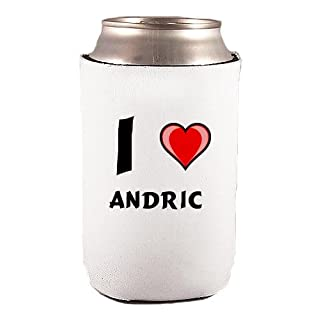 Custom Beverage Can / Bottle Cover (Coolie) with I Love Andric (first name/surname/nickname)