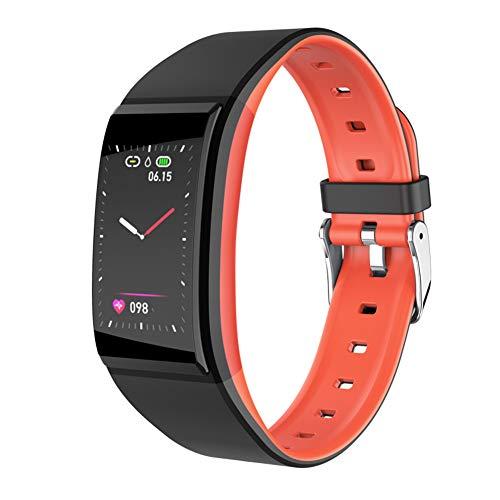 JELY Fitness Tracker mit Blutdruck-HR-Monitor, Gesundheit Übung Smart Watch mit Herzfrequenz und Schlaf-Monitor-Kalorie Schrittzähler für Männer Frauen,Orange