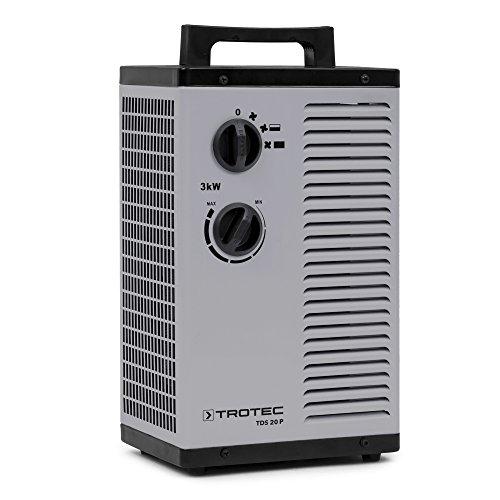 TROTEC Calefactor cerámico TDS 20 P de 3.000 Watt 3 kW con dos de ajustes de calor más una etapa...