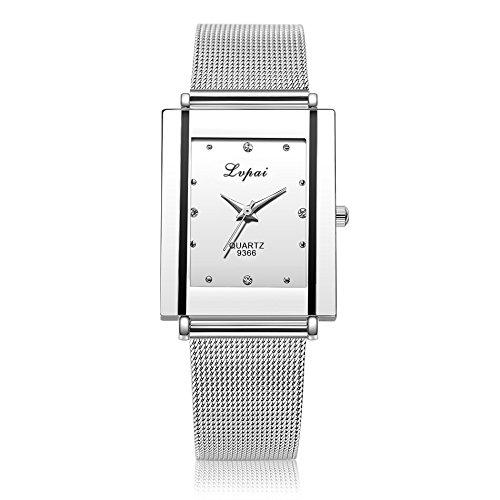 Damen Quarzuhr,Klassisch Platz Business Uhren Luxuriös Kristall Low-Key Geschenk Uhr Proumy (B)