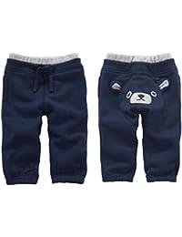 Bambino Pantaloni Ragazzi Ragazze Vello Jogging Elastici Pantaloni Sportivi  Caldi Invernali a784e40635a0