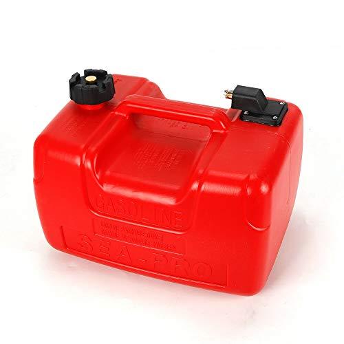 WUPYI2018 12L Treibstofftank,Außenborder Treibstofftank Aus Polyethylen,mit Verbinder,für Boote,Schlauchboote