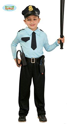 KINDERKOSTÜM - POLIZIST - Größe 110-115 cm ( 5-6 Jahre ), US Polizei Uniformen Beamter Bulle Cop Policia Berufe