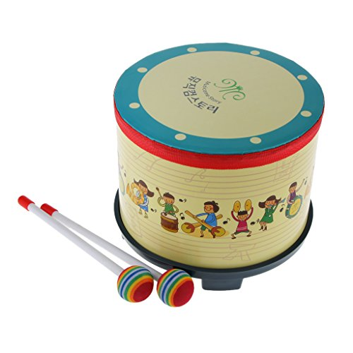 Tambour Pour Enfant W / Pilons Coloré Battu Jouet Cadeau