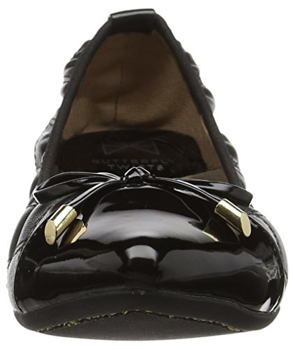 Butterfly Twists Damen Holly Ballerinas, Schwarz Schwarz (Schwarz)