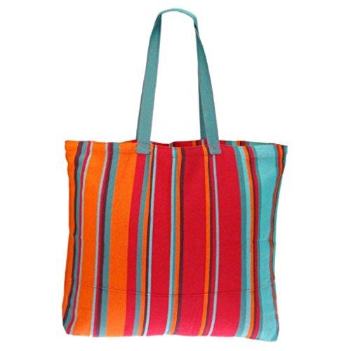 Textiles Fairtrade , Borsa da spiaggia  multicolore Greta Franja