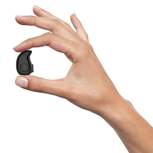 shenzoo® Bluetooth In Ear Headset Mini für iOS und Android in schwarz