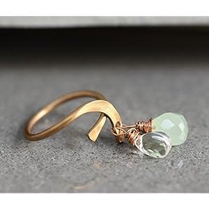 Original 50er Vintage Ring mit Topas und Kristall