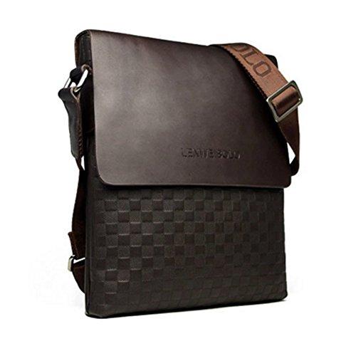 innturt Herren Leder Tasche Messenger Schulter, Fashion, Medium Braun - braun