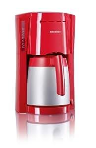 Severin 4129 Cafetière Isotherme 800 W 1,0 L Rouge-Argent