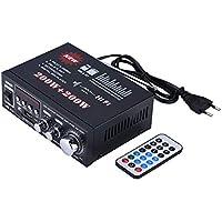 VBESTLIFE Amplificador HiFi Amplificador de Potencia de Alta Fidelidad Puede Conducir MP3, MP4, CD, Radio, DVD,etc.