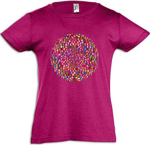Psychedelic disco light t-shirt bambina retro oldies music musik nerd techno indie electro wave new hipster club clubbing rave cyber dance mirror ball starlight star 70s 80s 90s