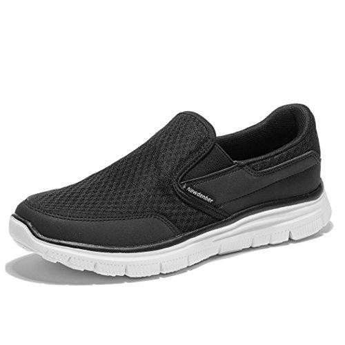 NDB Herren Leichtes Slip On Sneaker Sportschuhe Laufschuhe (44 EU, Schwarz (Black)) Herren-slip-on-sneakers