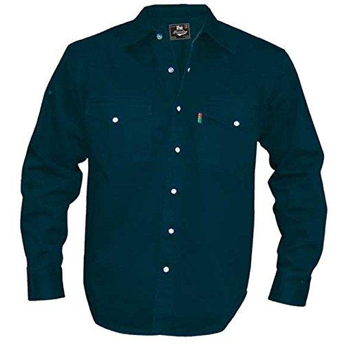 Camicia jeans da uomo duke london misura king stone wash top a manica lunga - slavati, xxxx-large
