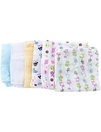 Gazechimp 5 Piezas Babero Cuadrado de Bebé de Gasa de Algodón de Baño de Cocina Regalos para Bebé Recién Nacido