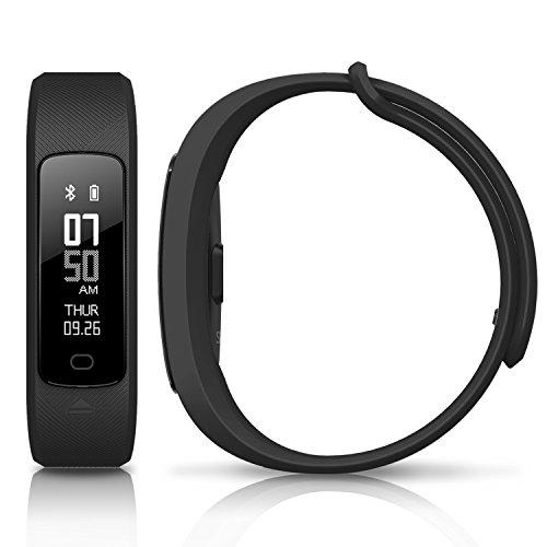 MYPIN Fitness Tracker d'Activté Pression artérielle tracker de fitness de rythme cardiaque dynamique + Météo + Température Suivi de la santé Surveillance de la fréquence cardiaque et du sommeil (Noir)