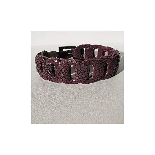 Armband RIVER aus Fischleder violett Amethyst Garam -