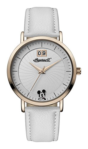 Ingersoll Disney Women's Union Quartz Watch with White Dial and White PU Leather Strap ID00502
