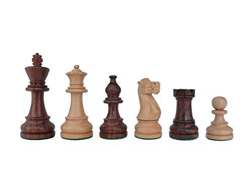 SchachQueen-Bundesliga-Turnier-Schachfiguren-Staunton-American-braunwei-Holz-Knigshhe-98-mm