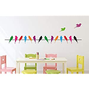 Amazon Brand – Solimo Wall Sticker for Living Room (Take The Wings & Fly Away, Ideal Size on Wall – 140 cm x 37 cm)