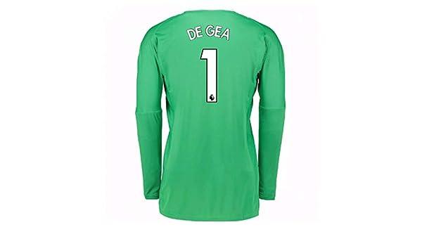 huge discount bb211 0cd34 2017-18 Man Utd Away Goalkeeper Football Soccer T-Shirt ...