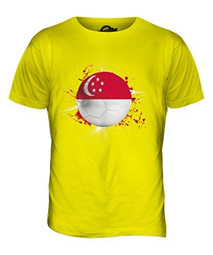 CandyMix Singapur Fußball Herren T Shirt Zitronengelb