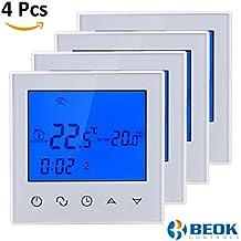 Beok TDS21-EP - Termostato digital de habitación con pantalla táctil para sistema de calefacción