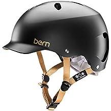 Bern Lenox - Casco per bici, guscio in EPS, da donna, nero (Satin Noir), XS/S
