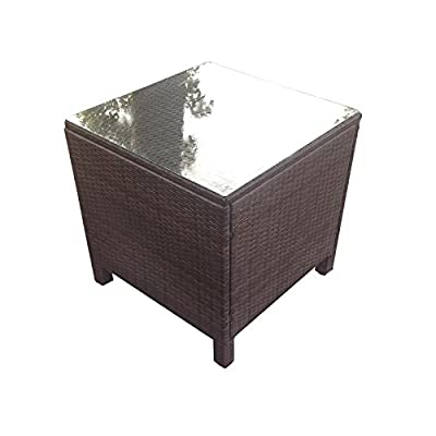 Oseasons® Morocco Rattan Square Coffee Table in Dark Brown - cheap UK light shop.