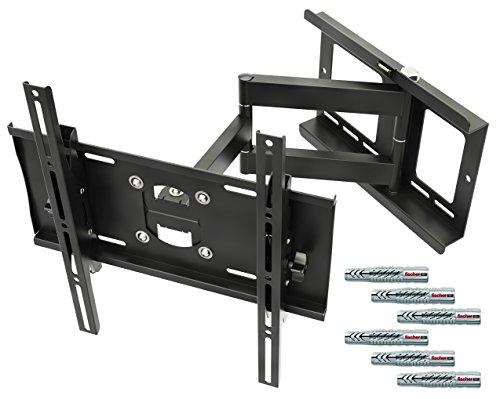 """RICOO Wandhalterung TV Schwenkbar Neigbar R23F Fischer® UX10 Dübel Universal LCD Wandhalter Fernseher Halterung Curved OLED QLED Flachbildfernseher 80cm/32""""-165cm/65"""" Zoll / VESA 400x400"""