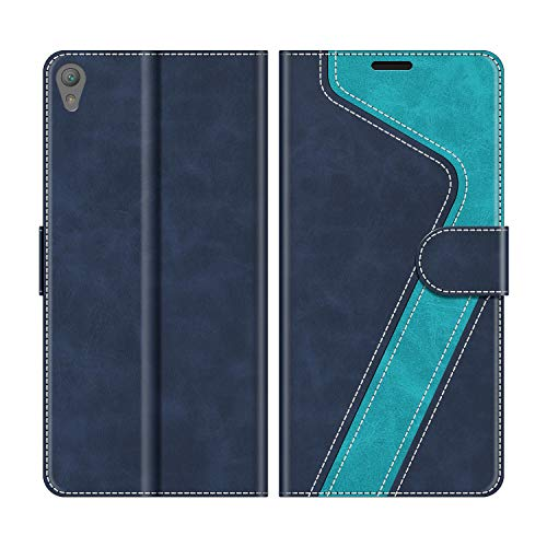 MOBESV Handyhülle für Sony Xperia E5 Hülle Leder, Sony Xperia E5 Klapphülle Handytasche Case für Sony Xperia E5 Handy Hüllen, Modisch Blau
