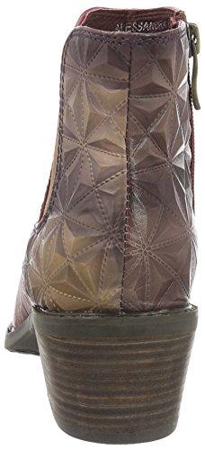 Laura Vita Alessandra 05, Bottes courtes avec doublure chaude femme Multicolore (Violet)